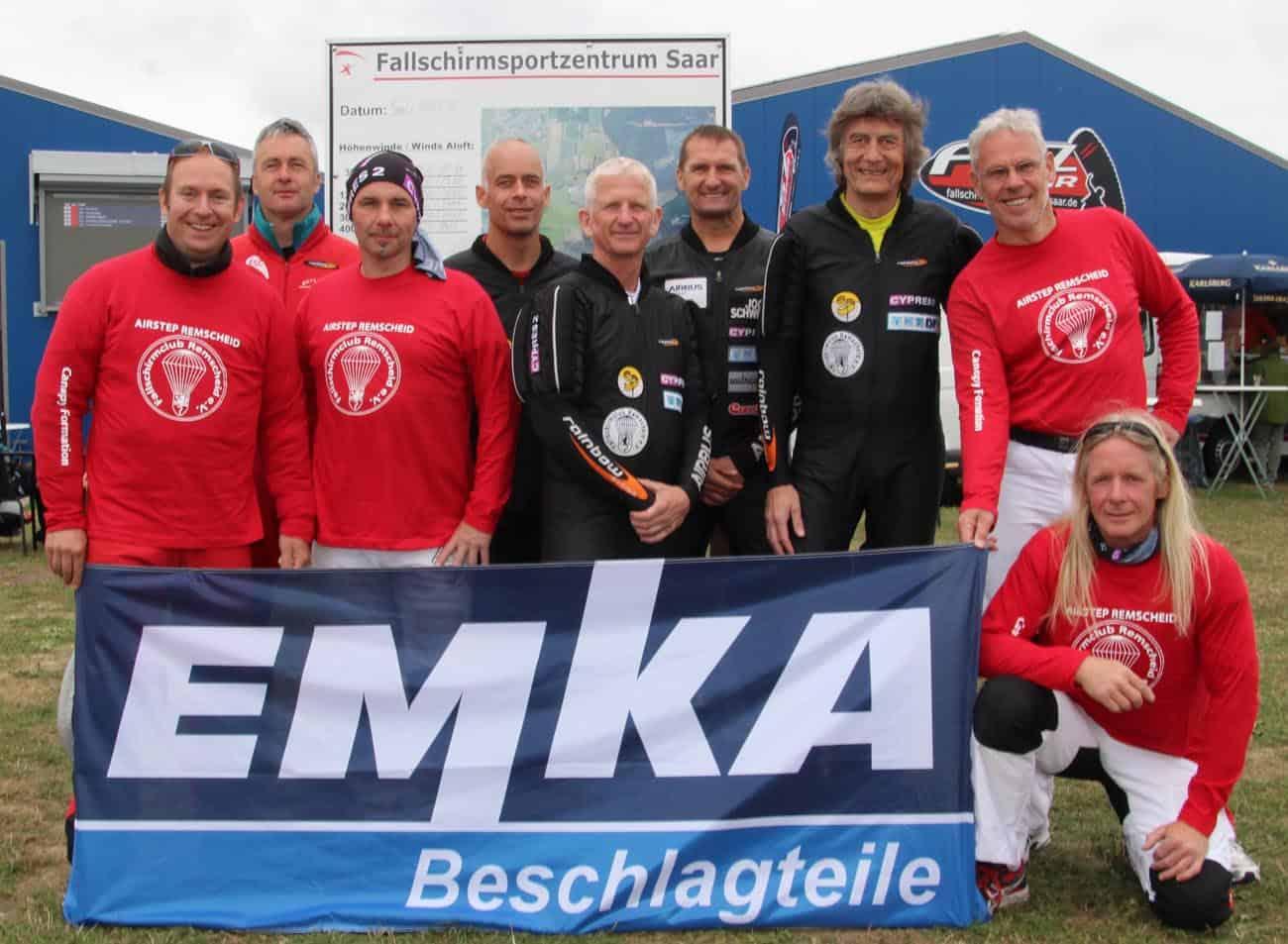 Unsere beiden Vierer-Teams von links: Björn Schubnell, Peter Hormuth, Thomas Rohde-Seelbinder, Steffen Schiedek, Kai Wolf, Thomas Spielvogel, Uli Sehrbrock, Tom Brand und Peter Wohlers