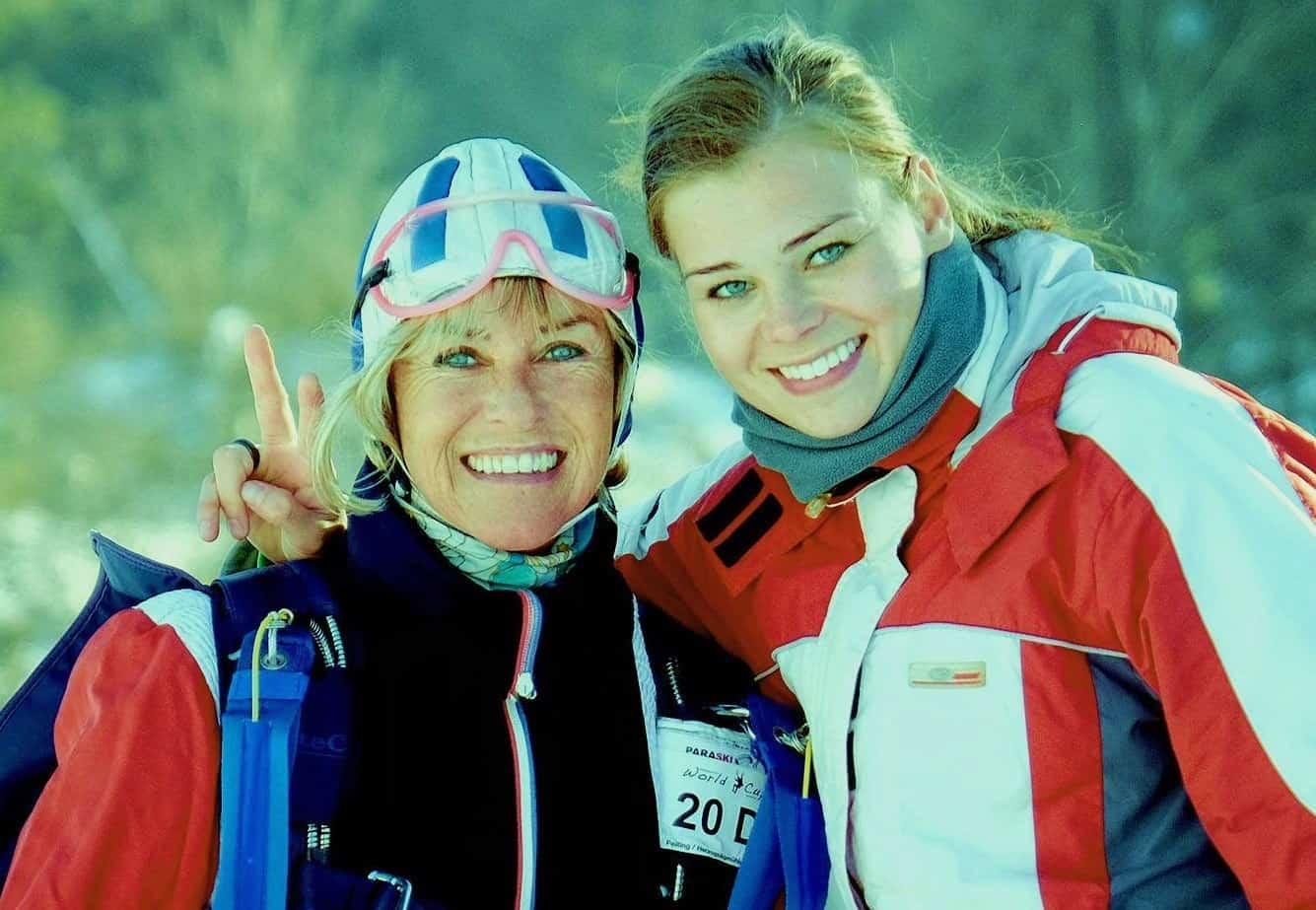 Mutter Gerda und Tochter Lucia gemeinsam im Februar diesen Jahres in einem Team beim Paraski im Unterammergau