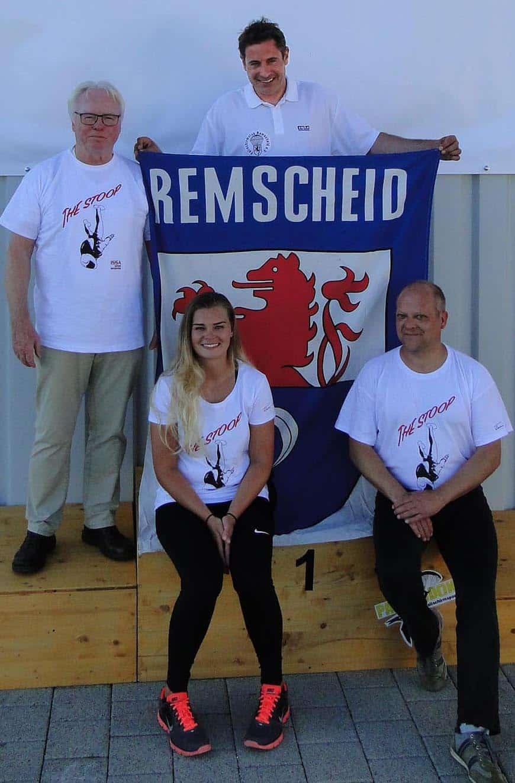 Unsere Sieger mit ihrem Vereins-Vorsitzenden des FSC Klaus Mathies