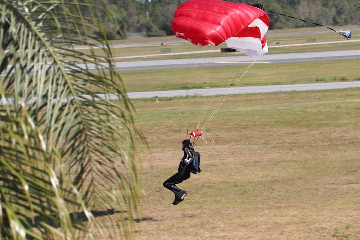 Uli bei der Landung in DeLand, Florida