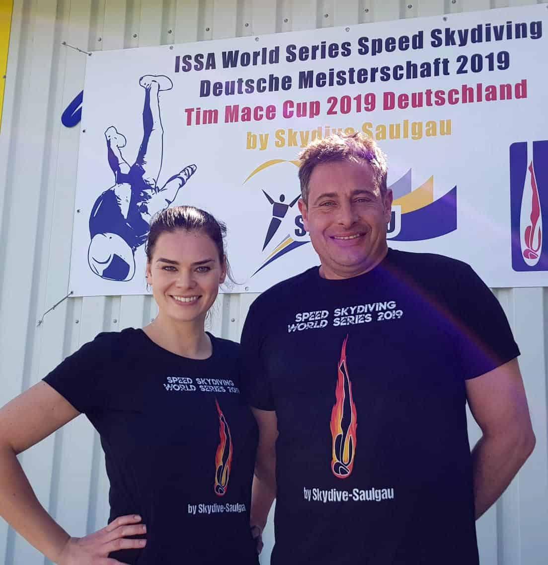 Lucia Lippold und Weltmeister Moritz Friess vom FSC Remscheid.