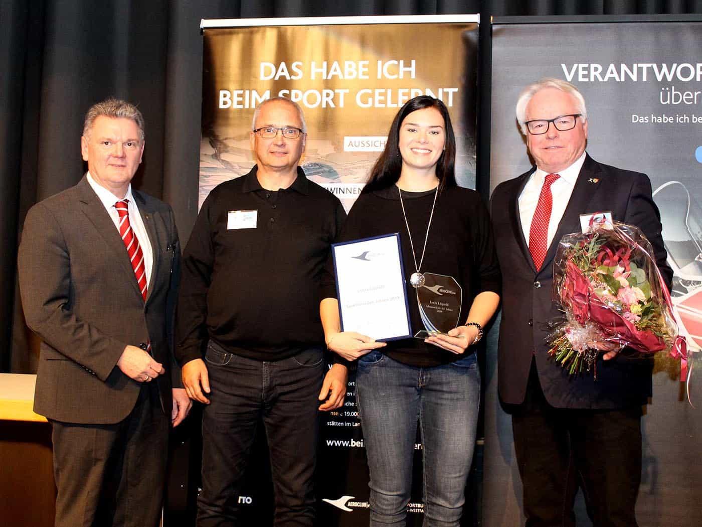 Präsident des DAeC Stefan Klett, Gerhard Währisch BKF, Lucia Lippold Sportlerin des Jahres, Präsident FSC Remscheid Klaus F.H.Mathies