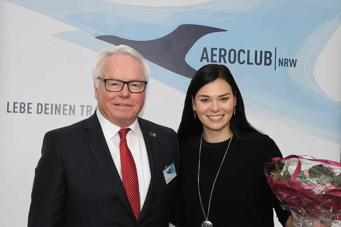 Klaus F.H.Mathies und Lucia Lippold Sportlerin des Jahres 2019