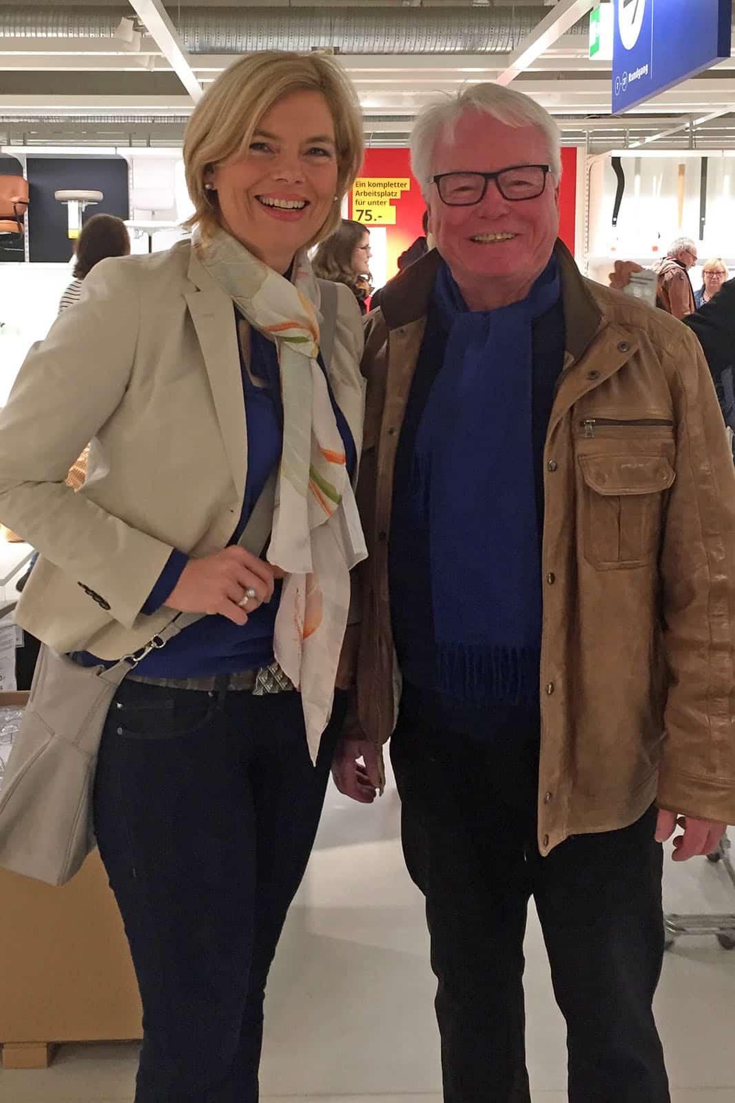 Bundesministerin für Ernährung und Landwirtschaft, Julia Klöckner und unser Präsident Klaus Mathies