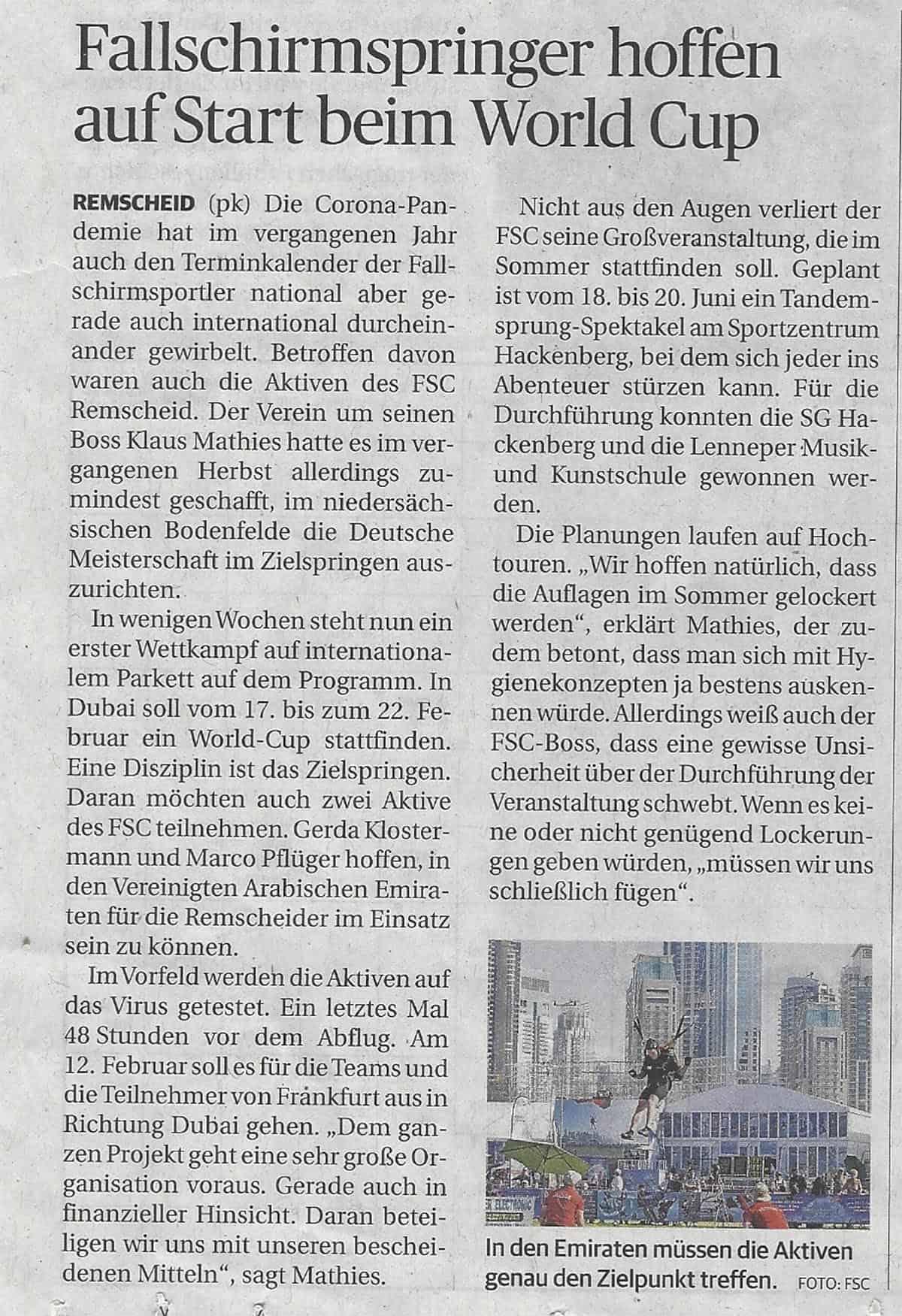 2021.01.27 Bergische Morgenpost
