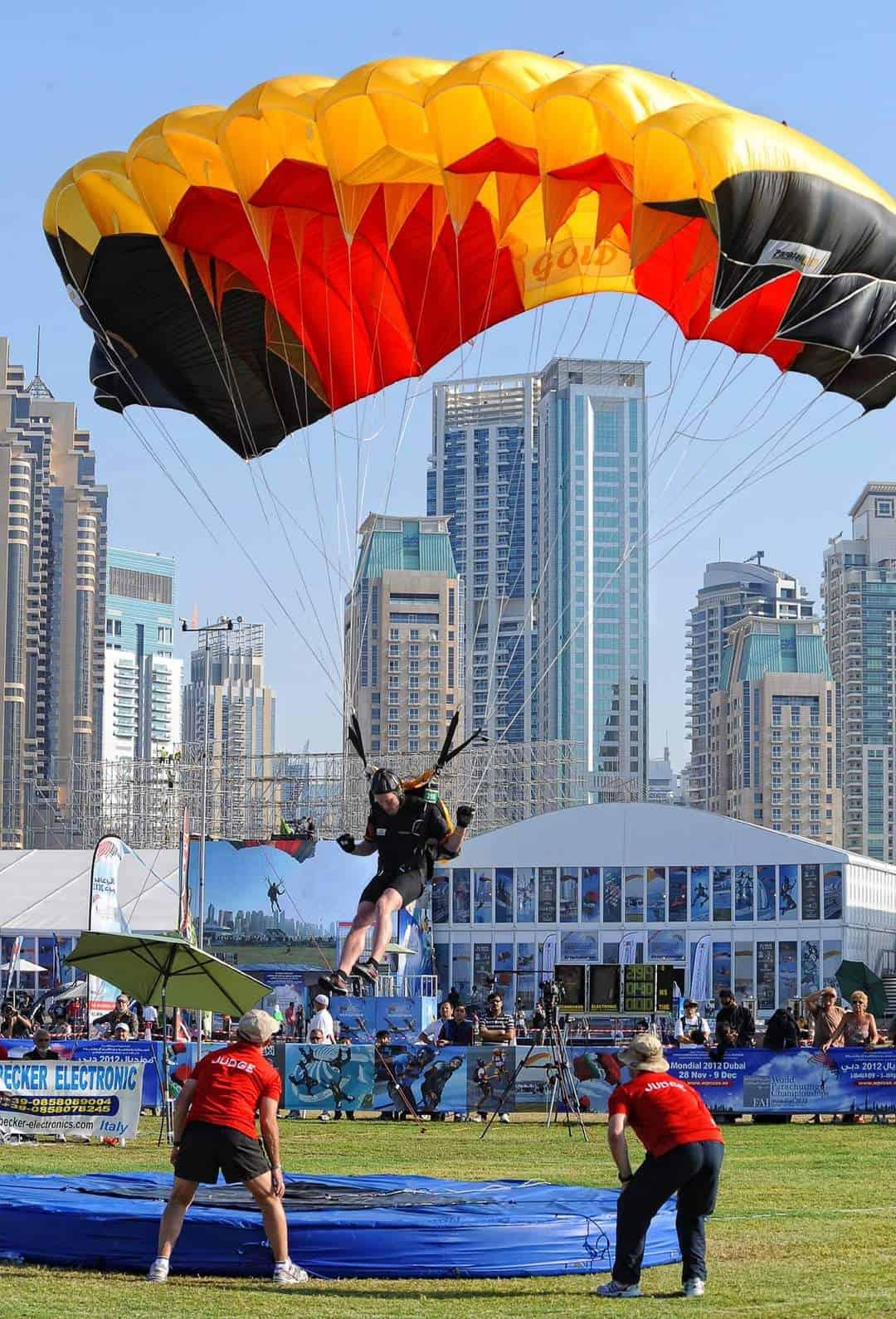 Zielsprung in Dubai